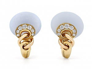 Chimento Chalcedony Earrings in 18K Yellow Gold