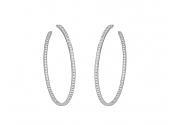 Cartier Large Diamond Hoop Earrings in 18K White Gold