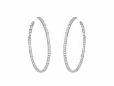Cartier Large Diamond Hoop Earrings in 18K White Gold