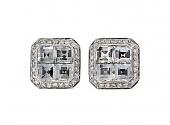Bez Ambar Blaze-cut Diamond Earrings in 18K White Gold