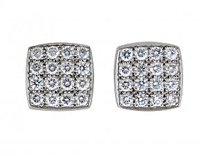 Diamond Stud Earrings in Platinum, by Susan Sadler