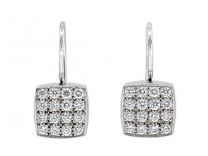 Diamond Earrings in Platinum by Susan Sadler