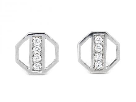 Tiffany & Co. Paloma Picasso Diamond Earrings in 18K