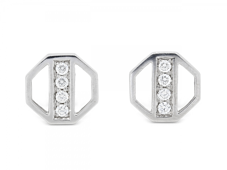 Video of Tiffany & Co. Paloma Picasso Diamond Earrings in 18K