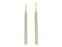 Beladora 'Bespoke' Diamond Bar Ear Pendants in 18K Gold