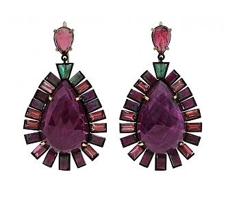 Nak Armstrong 'Double-Drop' Ruby Earrings