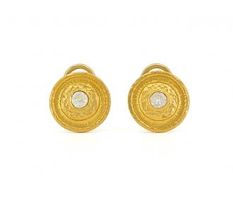 Gurhan Diamond Earrings in 24K Gold