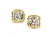 David Yurman 'Albion' Diamond Earrings in Silver and 18K Gold