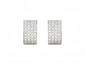 Ron Hami Diamond Huggie Earrings in 18K White Gold