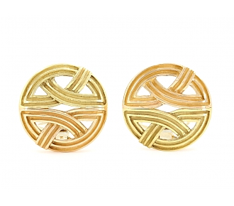 Christopher Walling Earrings in 18K Yellow and Rose Gold