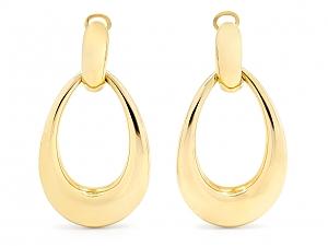 Door Knocker Earrings in 18K Gold, by Beladora