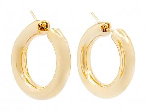 Small Hoop Earrings in 18K Gold, by Beladora