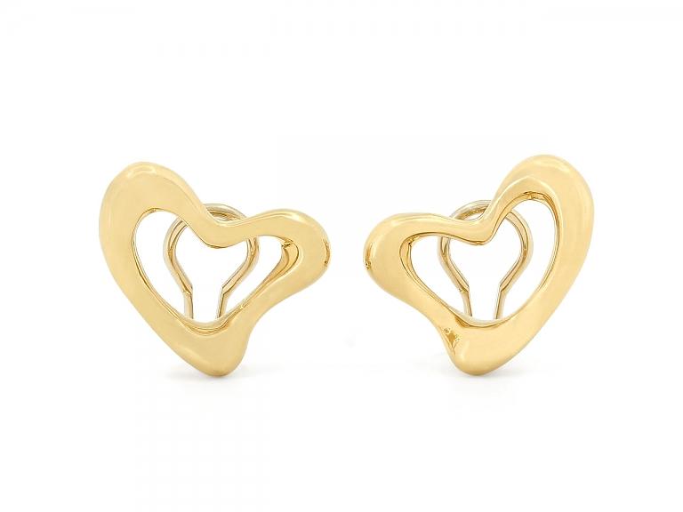 Video of Tiffany & Co. Elsa Peretti Heart Earrings in 18K Gold