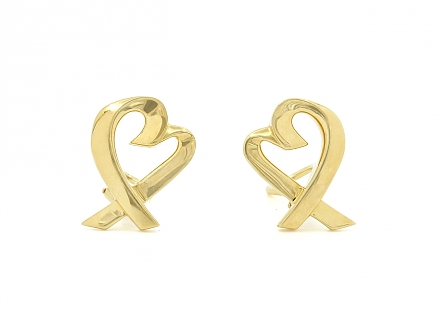 Tiffany & Co. Palomo Picasso 'Loving Heart' Earrings in 18K Gold