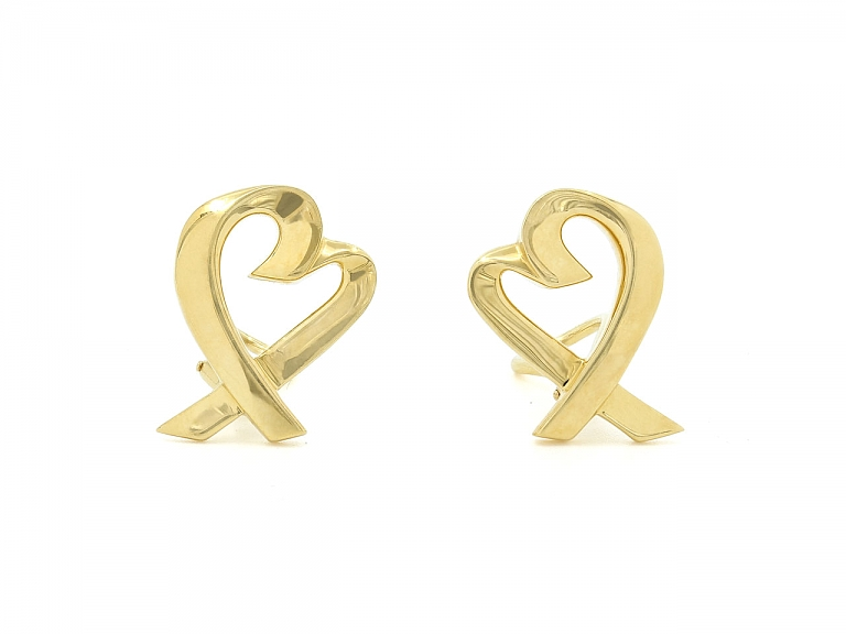 Video of Tiffany & Co. Palomo Picasso 'Loving Heart' Earrings in 18K Gold
