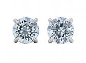 Beladora 'Bespoke' Diamond Stud Earrings, 1.80 total carats, in Platinum