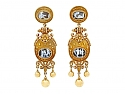 Victorian Etruscan Revival Cameo Earrings in 18K Gold