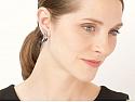 Beladora Bespoke Sapphire and Diamond Earrings in Blackened 18k Gold
