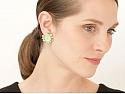 Elizabeth Locke Venetian Glass Intaglio Earrings with Pearls in 18K Gold