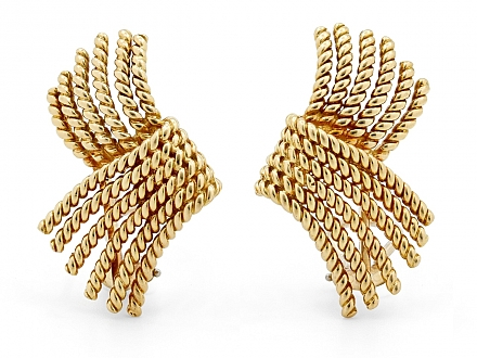 Tiffany & Co. Schlumberger Rope Earrings in 18K Gold