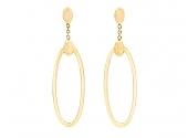 Gold Hoop Earrings, by Beladora
