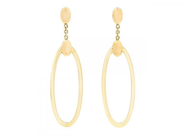Video of Gold Hoop Earrings, by Beladora