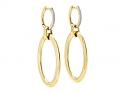 Gold Hoop Earrings, with Diamond Tops, in 18K Gold, by Beladora