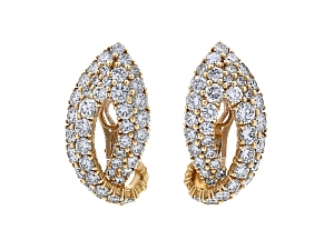 French Diamond Ear-clips in 18K Gold