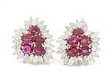 Ruby and Diamond Earrings in 18K Gold