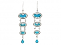 Turquoise and Diamond Earrings in 18K