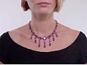 Antique Victorian Amethyst Necklace in 15K