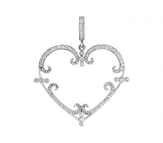 Rhonda Faber Green 'Filigreen Heart' Pendant Necklace in 18K, Medium