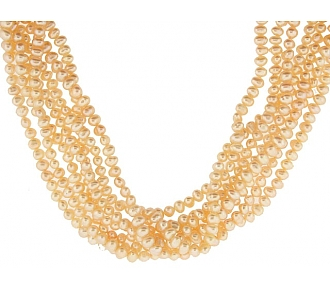 Freshwater Pearl Necklace in 22K