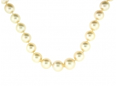 South Sea Pearl Necklace with Diamond Clasp in 18K