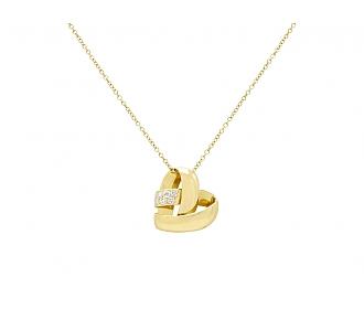 Van Cleef & Arpels Diamond Heart Pendant in 18K Gold