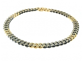 Faraone Chain Choker Necklace in 18K Blackened Gold