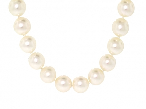 Single Strand of Cultured Pearls in 14K