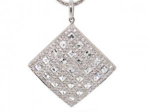 Bez Ambar Blaze-cut Diamond Pendant in 18K White Gold