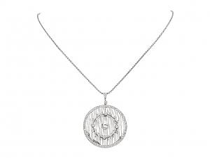 Antique Edwardian Diamond Pendant in Platinum