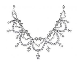 Diamond Garland Necklace in Platinum