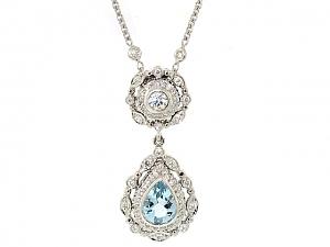 Doris Panos Aquamarine Necklace in 18K