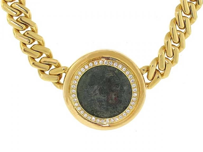 Video of Fred Paris for Tallarico Ancient Coin Necklace in 18K