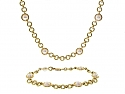 Tiffany & Co. Pearl Necklace and Bracelet in 18K