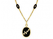 Van Cleef & Arpels Black Onyx and Diamond Pendant in 18K Gold