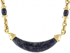 Cartier Aldo Cipullo Sodalite Necklace in 18K