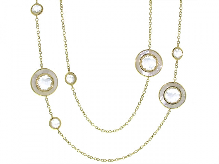 Video of Ippolita Quartz and Mother-of-Pearl Necklace in 18K