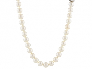 Pair of Akoya Pearl Necklaces in 14K