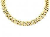 Bulgari Diamond Spiga Necklace in 18K