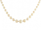 Opal Bead Necklace in 14K