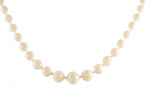 Opal Bead Necklace in 14K